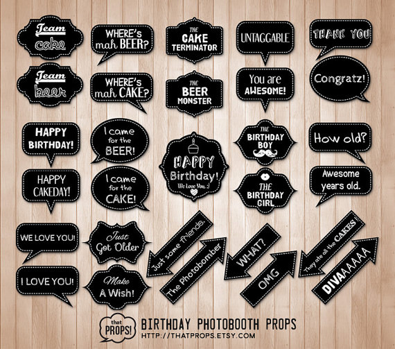 photo booth signs birthday ; 176223d827c1e11258d8f32ec2ced1eb