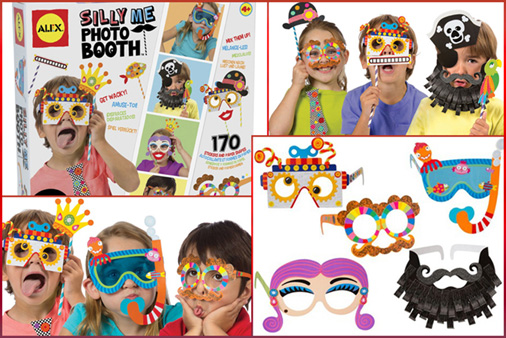 photo booth themed birthday party ; movie_birthday_party_photo_booth_for_kids