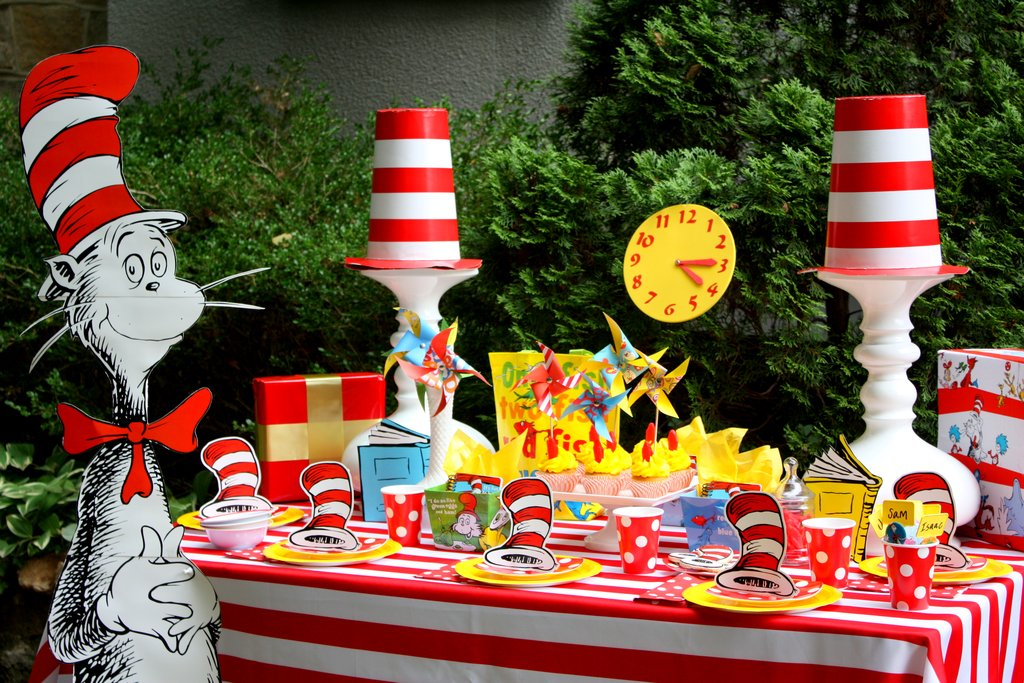 photo themed birthday party ; Dr-Seuss-Themed-Birthday-Party