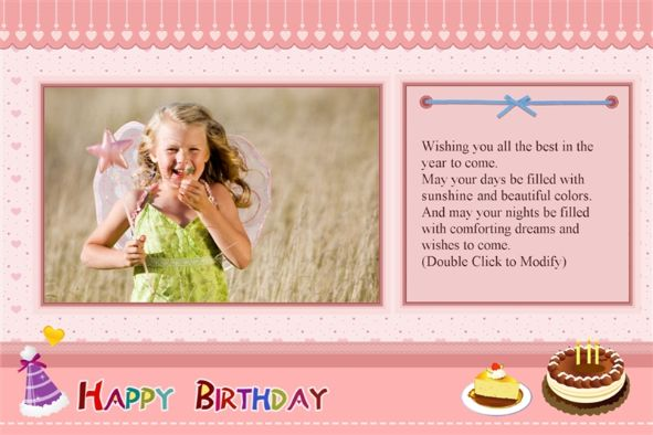 photoshop birthday card design ; monthly-specials-for-july-pink-design-kids-girl-with-wishes-layout-place-design-and-decorations-birthday-card-template-photoshop