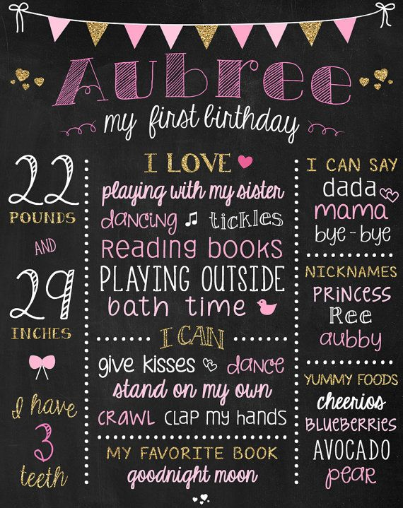 picture poster board for birthday ; 25-unique-first-birthday-board-ideas-on-pinterest-first-chalkboard-poster-board