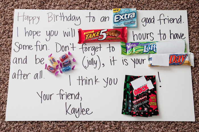 picture poster board for birthday ; CandyBar-3edit