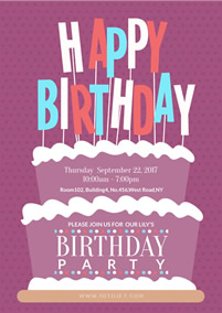 picture poster for birthday ; party-birthday