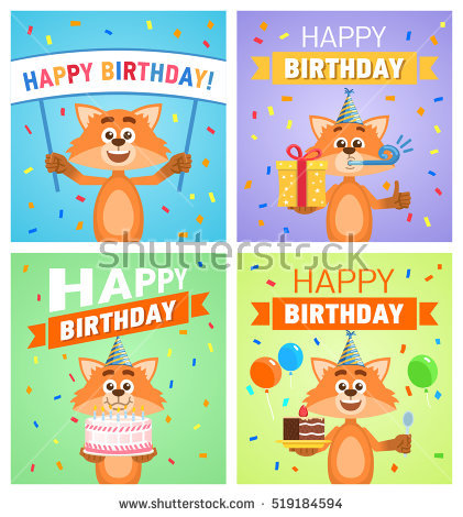 picture posters for birthday ; stock-vector-set-of-different-birthday-posters-birthday-greeting-card-placard-cheerful-cartoon-fox-character-519184594