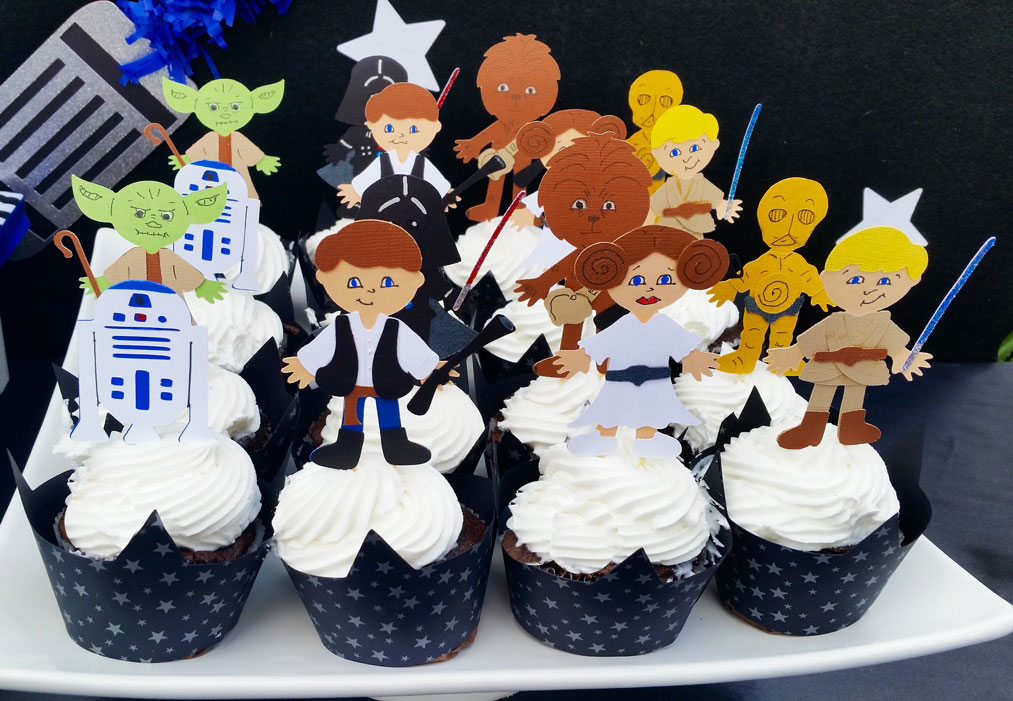 picture themed birthday party ; Boys-Star-Wars-Themed-Birthday-Party-Food-Cupcake-Ideas