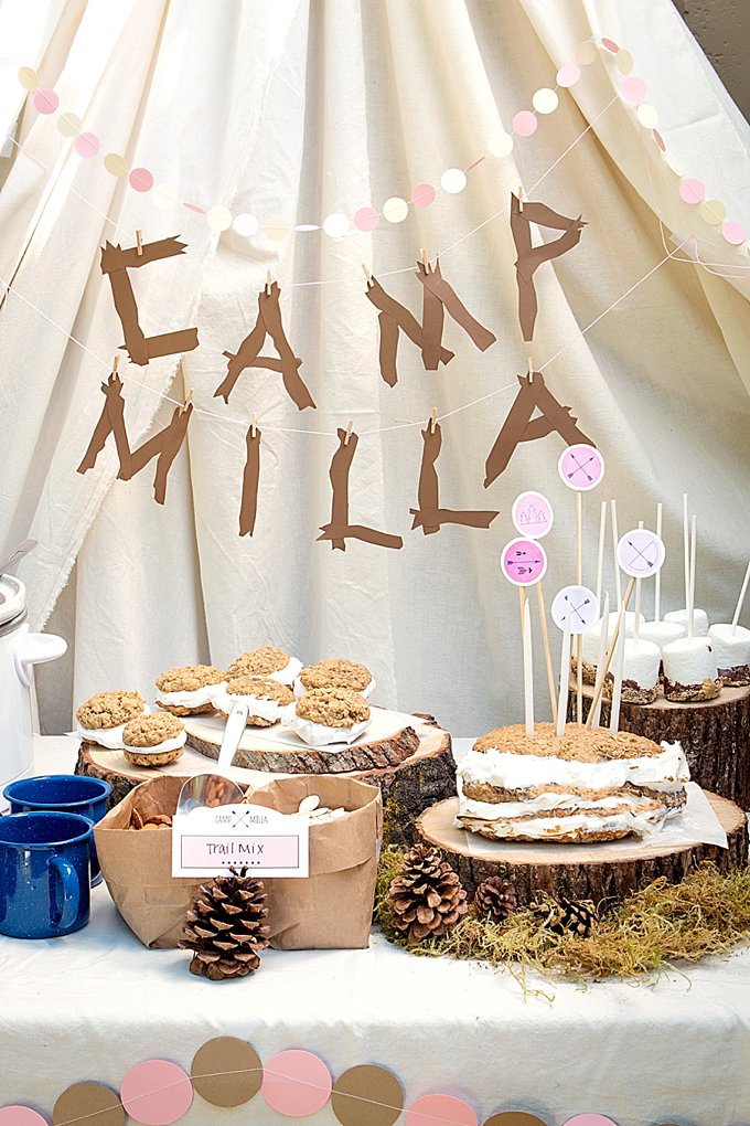 picture themed birthday party ; Glamping-Kids-Party_0002