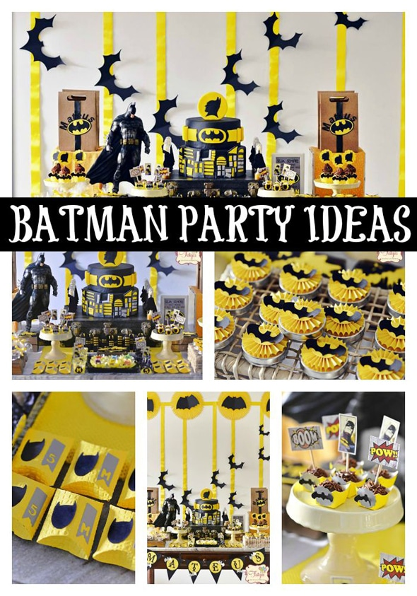 picture themed birthday party ; batman-birthday-party-ideas-for-boys