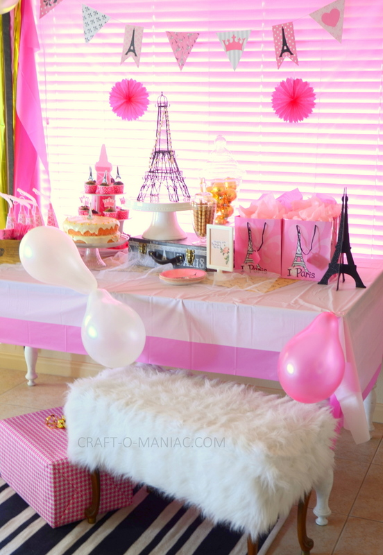 picture themed birthday party ; paris-party-front-angle