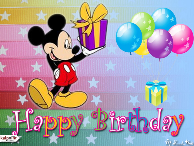 pictures of birthday cards ; pics-of-birthday-cards-mickey-mouse-brings-ribboned-gifts-purple-on-the-colorful-background-there-are-six-colored-balloons-greetings