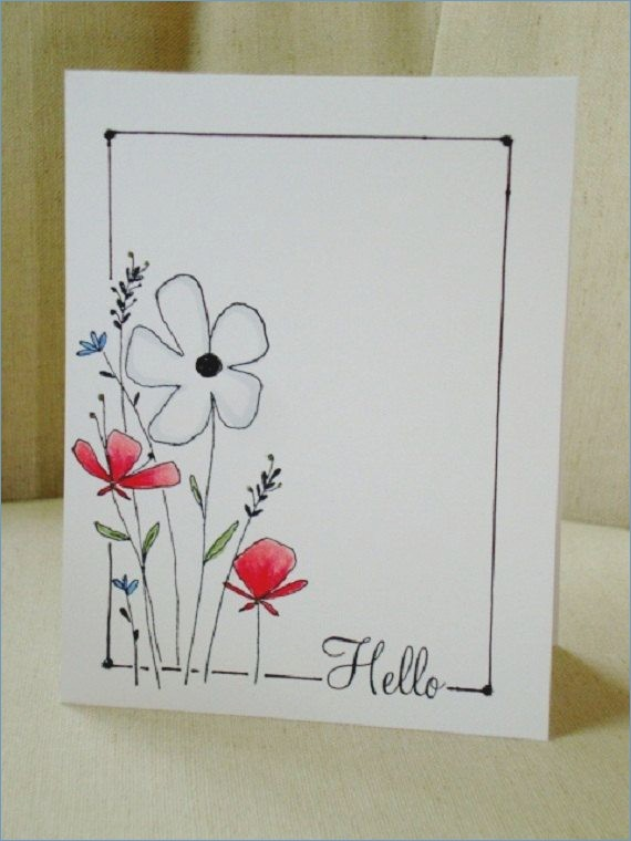pictures to draw on birthday cards ; drawn-cards-hand-drawn-pencil-and-in-color-drawn-cards-hand-drawn-of-things-to-draw-on-a-birthday-card