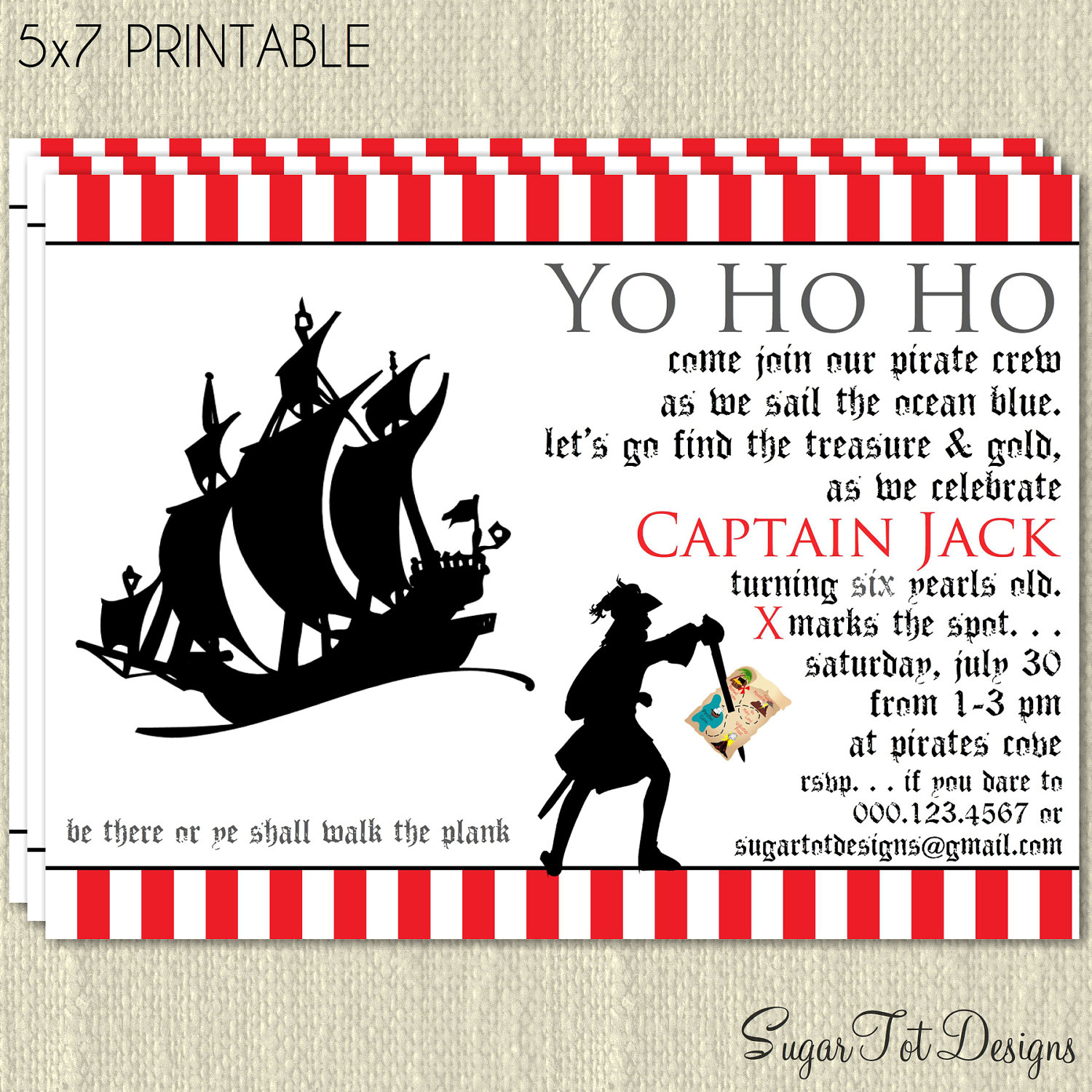 pirate themed birthday party invitation ideas ; 557ff2dfaaaba04c094b01f7dfaea962