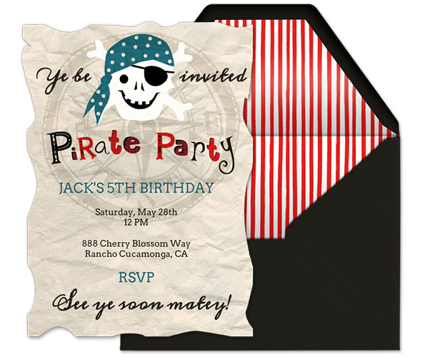 pirate themed birthday party invitation ideas ; Evite-Pirate-Party-Invitation