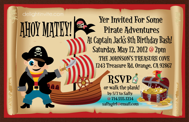 pirate themed birthday party invitation ideas ; Top-10-Party-Decorating-For-Your-Childs-Pirate-Birthday-Invitations-Template-Party-Celebration