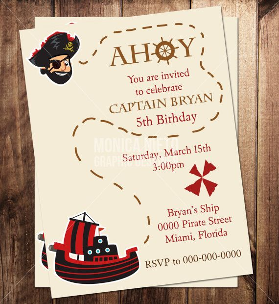 pirate themed birthday party invitation ideas ; b1da362a8b2e748ee145e64c6f70006b