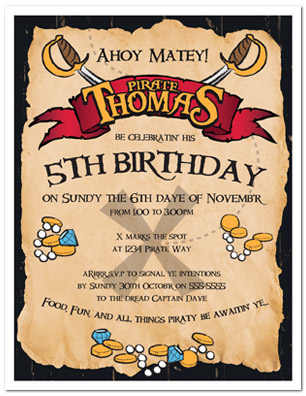 pirate themed birthday party invitation ideas ; pirate-birthday-party-invitations-birthday-5th-children-boys-kids-modern-design-two-swords-background-simple-design-ideas