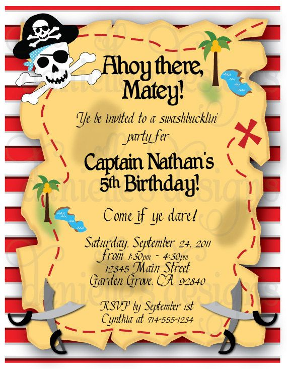 pirate themed birthday party invitation ideas ; pirate-invitation-template-pirate-birthday-invitations-pirate-birthday-invitations-and-the