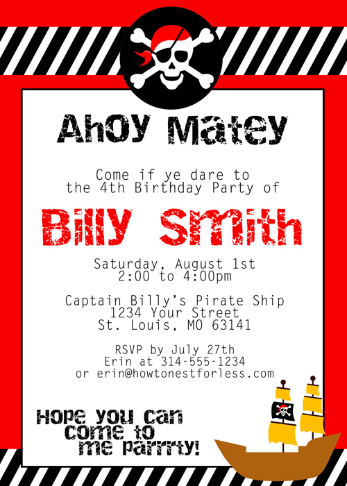 pirate themed birthday party invitation ideas ; pirate-party-invitation-template-pirate-themed-birthday-party-with-pirate-invitation-template