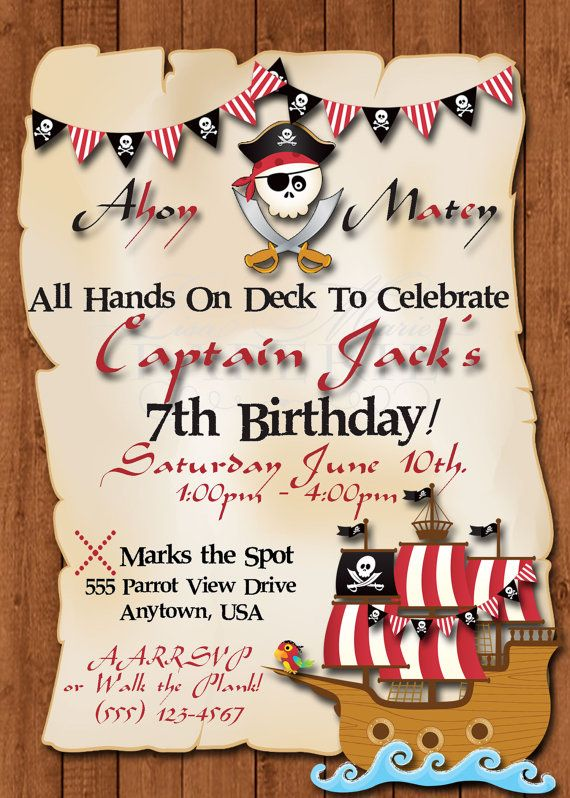 pirate themed birthday party invitation ideas ; pirate-themed-birthday-party-invitations-best-25-pirate-birthday-invitations-ideas-on-pinterest-pirate-template