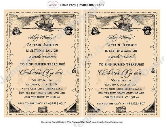 pirate themed birthday party invitation wording ; a1ec2a370150bf475f18f62d96d91ae9