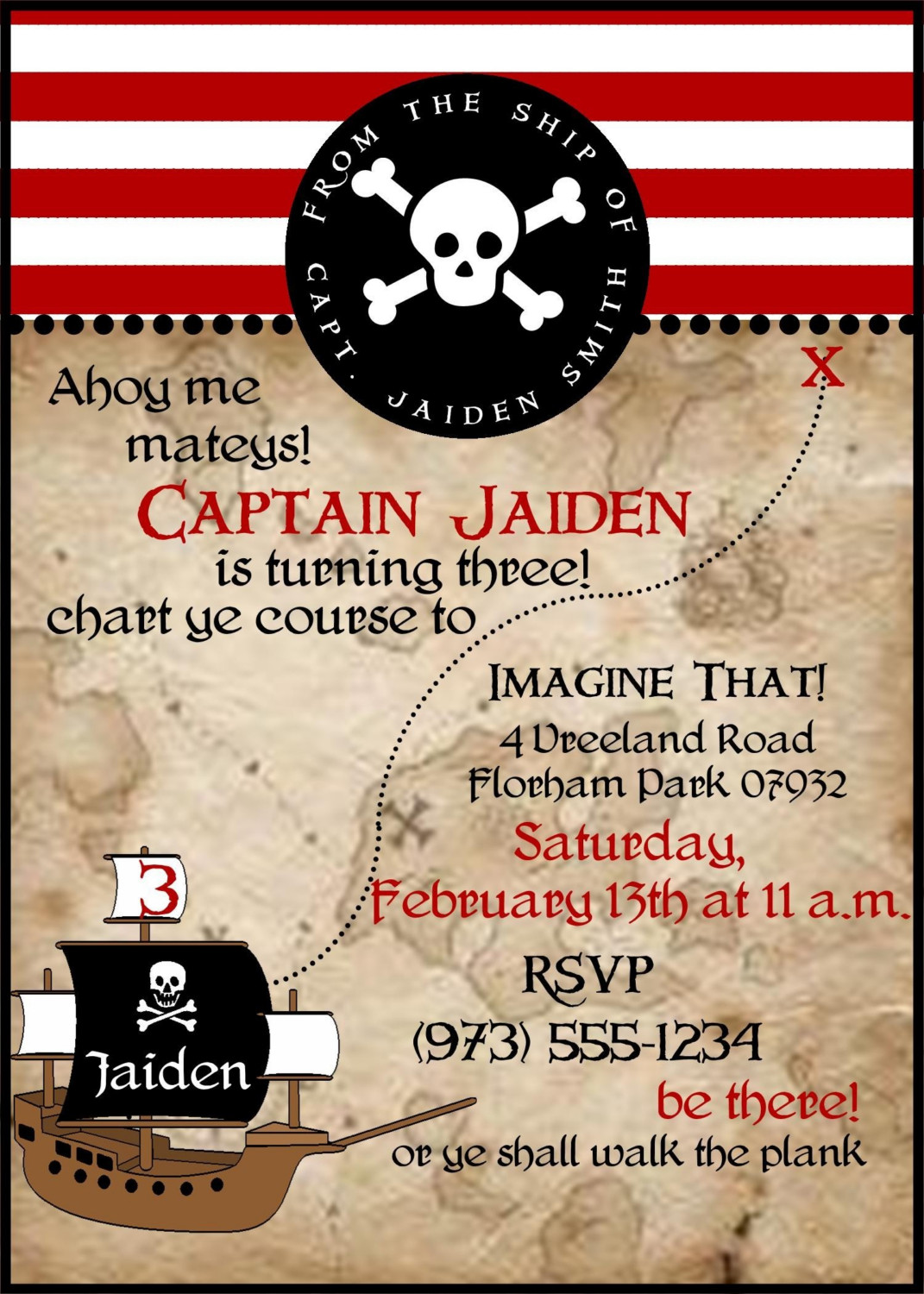pirate themed birthday party invitation wording ; il_fullxfull
