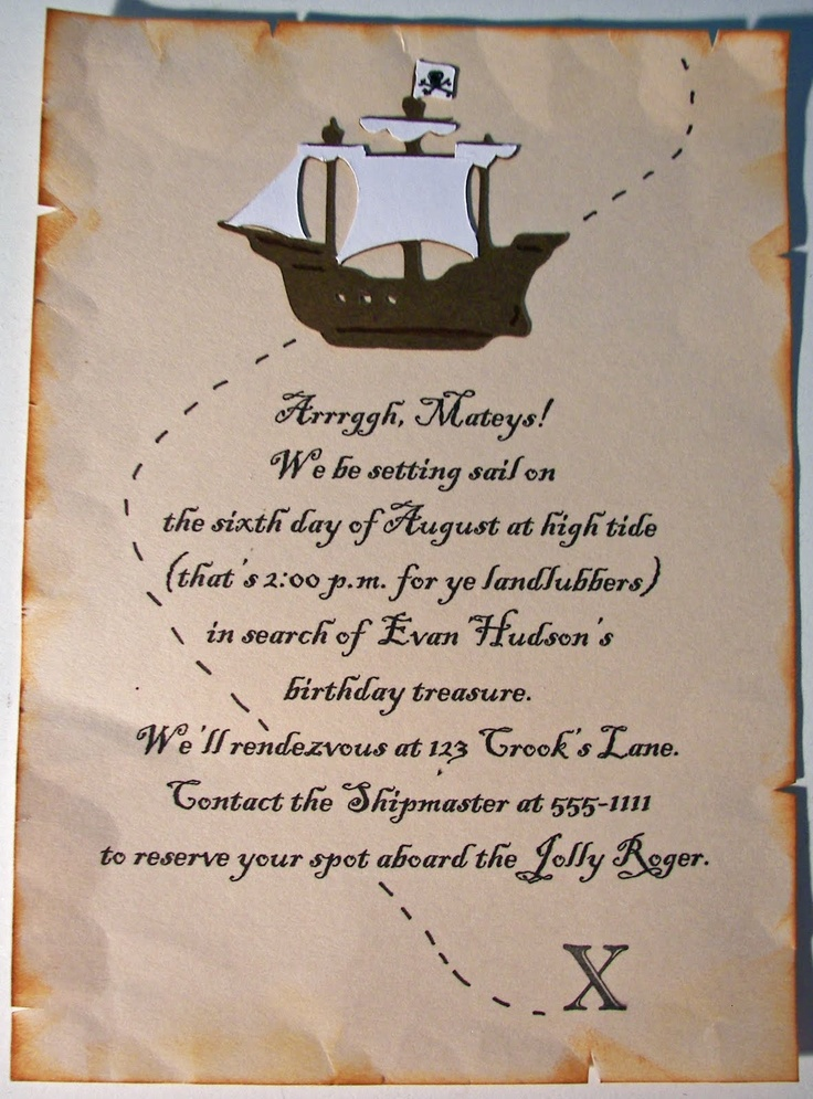 pirate themed birthday party invitation wording ; pirate-birthday-party-invitation-wording-62-best-pirate-birthday-party-images-on-pinterest-pirate