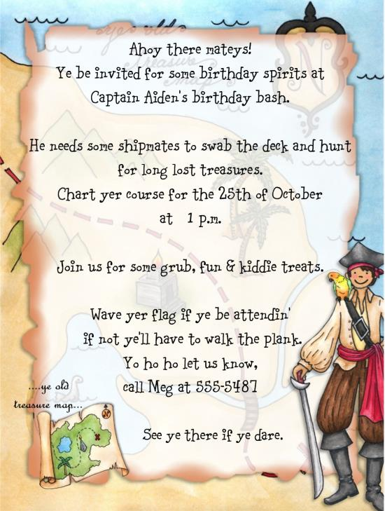 pirate themed birthday party invitation wording ; pirate-birthday-party-invitation-wording-matey-pirate-birthday-party-invitations-ideas