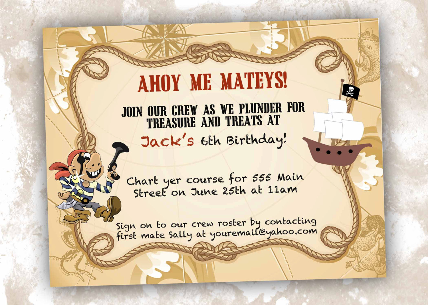pirate themed birthday party invitation wording ; pirate-party-invitation-wording_106264