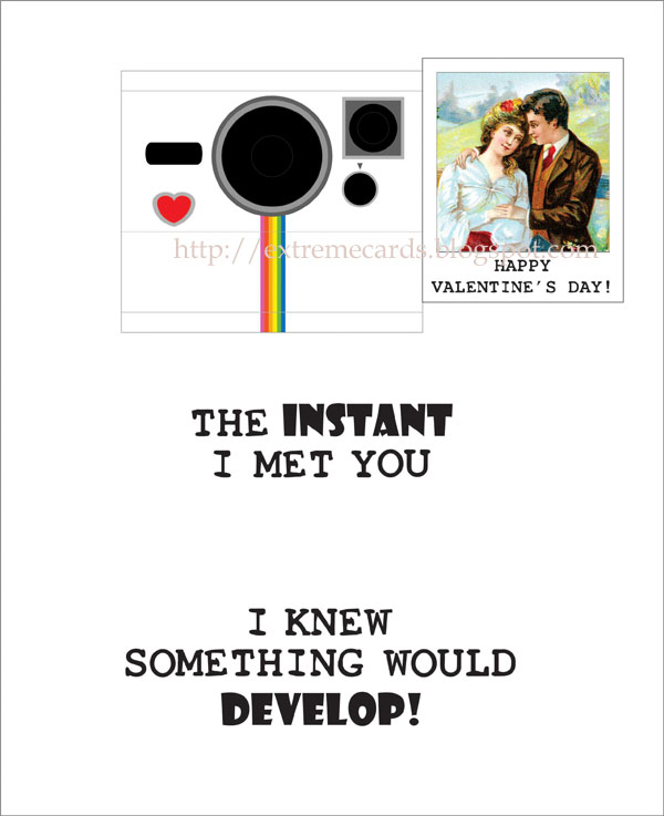 polaroid camera pop up birthday card with printable template ; poloroid%252Bvalentine%252Bfront