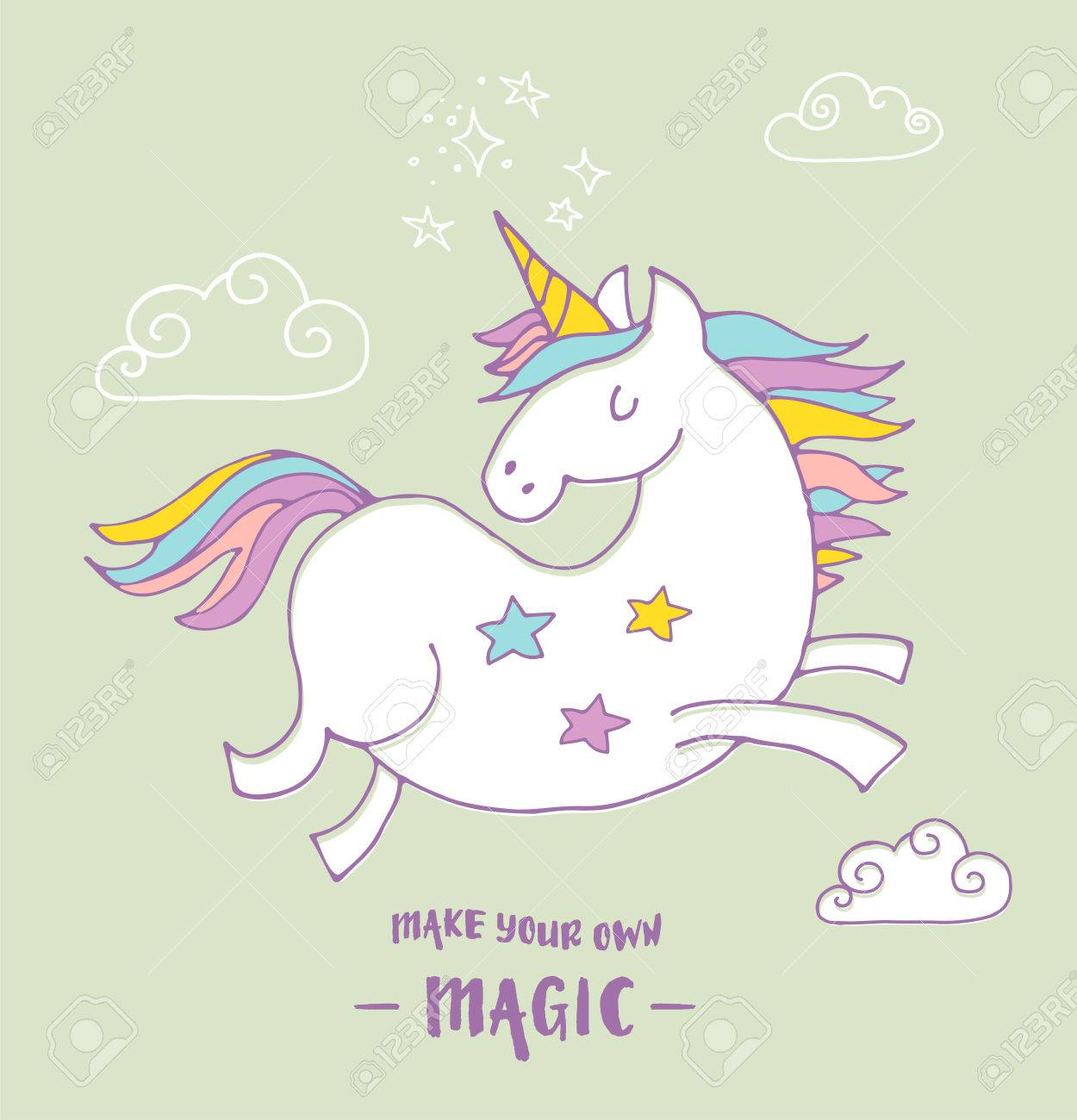 poster birthday card ; 51065574-cute-magic-unicon-and-rainbow-poster-greeting-birthday-card