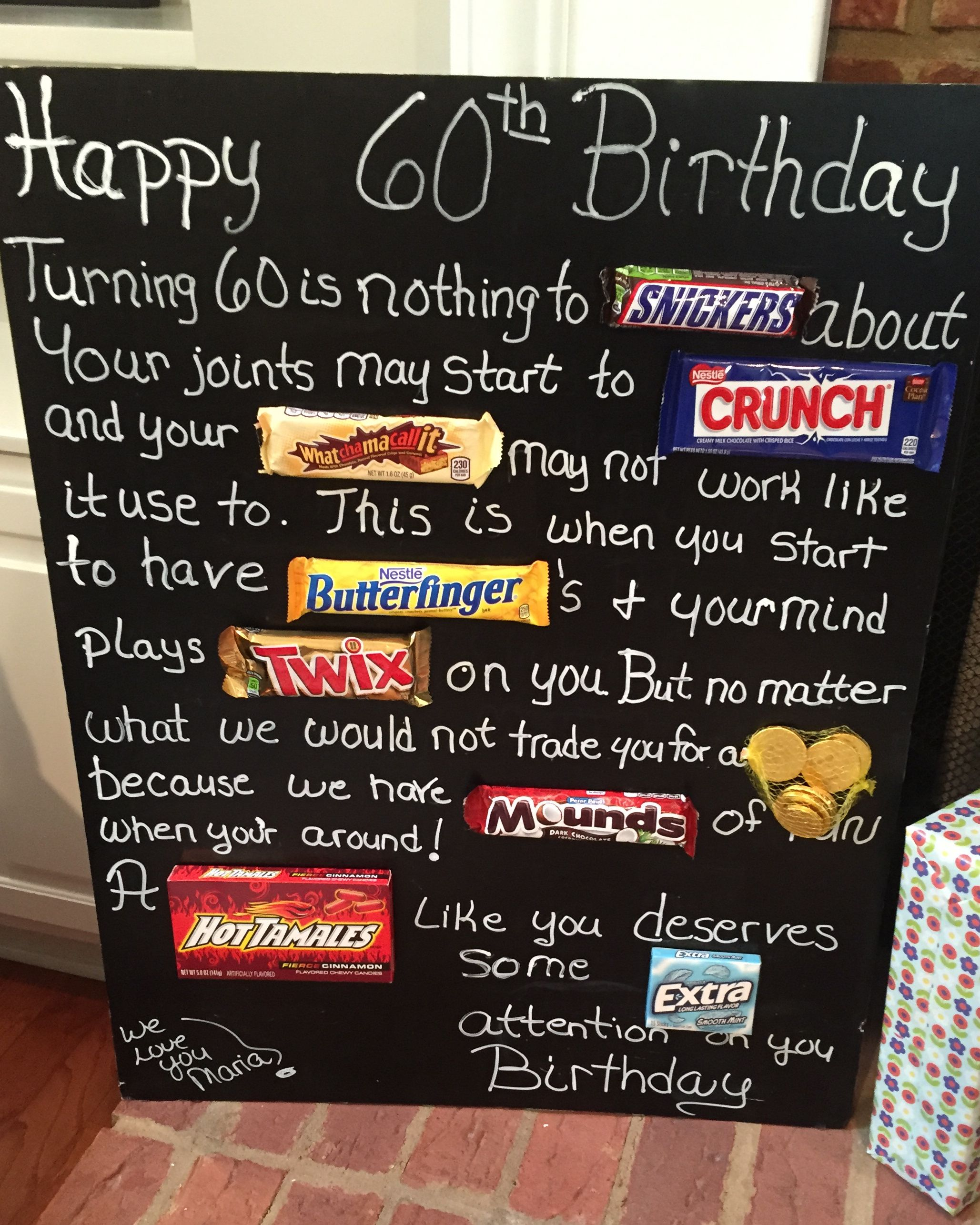 poster board birthday card ideas ; old-age-over-the-hill-60th-birthday-card-poster-using-candy-bars-likeable-poster-birthday-card-ideas