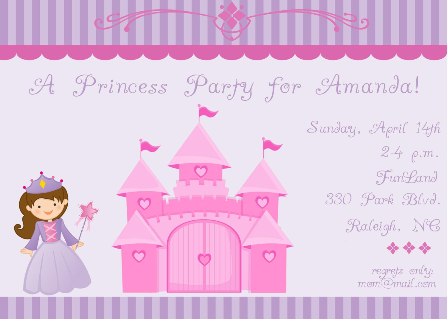 princess birthday invitation card design ; princess-birthday-party-invitations-by-way-of-applying-easy-on-the-eye-style-creation-in-your-Birthday-Invitation-Cards-invitation-card-design-19