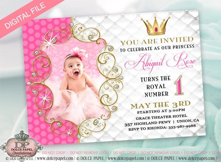 princess theme birthday invitation ; 234ca5fe870a3f259806b81925cab4f1