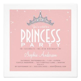 princess theme birthday invitation ; 8db6b86182eb41719f7e874376f2fea7--pink-princess-party-princess-party-invitations