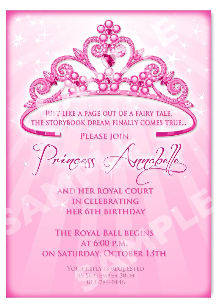 princess theme birthday invitation ; best-25-princess-birthday-invitations-ideas-on-pinterest-birthday-invitation-princess-theme