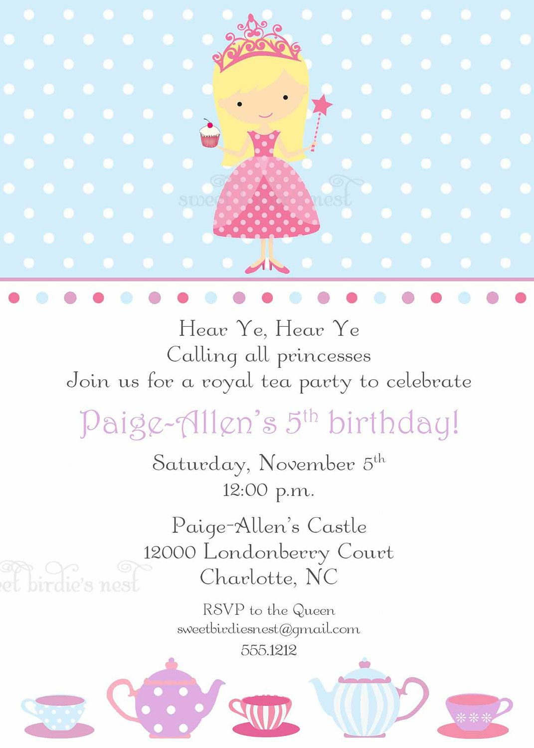 princess themed birthday party invitation wording ; a7e0f2bed7e4f33d6ec9f59eae13eed2