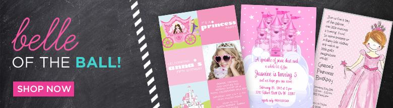 princess themed birthday party invitation wording ; princess-invitations