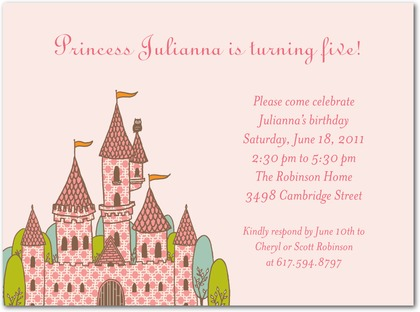 princess themed birthday party invitation wording ; princess2
