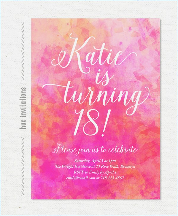 printable 18th birthday invitations ; pink-watercolor-18th-birthday-party-invitation-pink-coral-of-18th-birthday-invitation-cards-printable