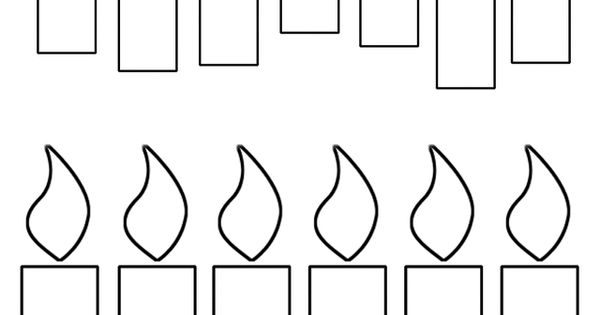 Printable Birthday Candles Template Candle Coloring Page Craft Templates
