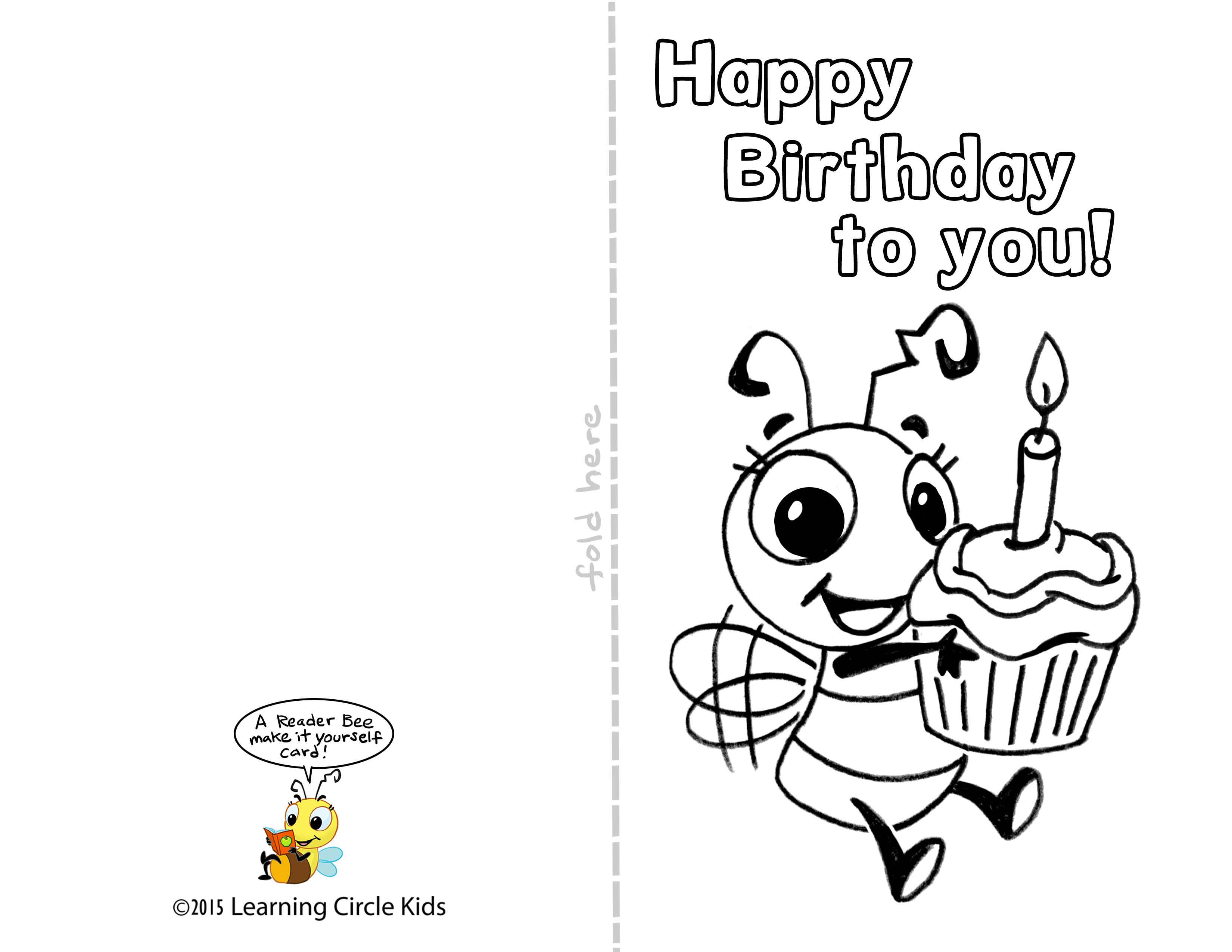 printable birthday card template ; printable-funny-birthday-cards-lovely-diy-free-printable-birthday-card-for-kids-to-decorate-and-write-of-printable-funny-birthday-cards