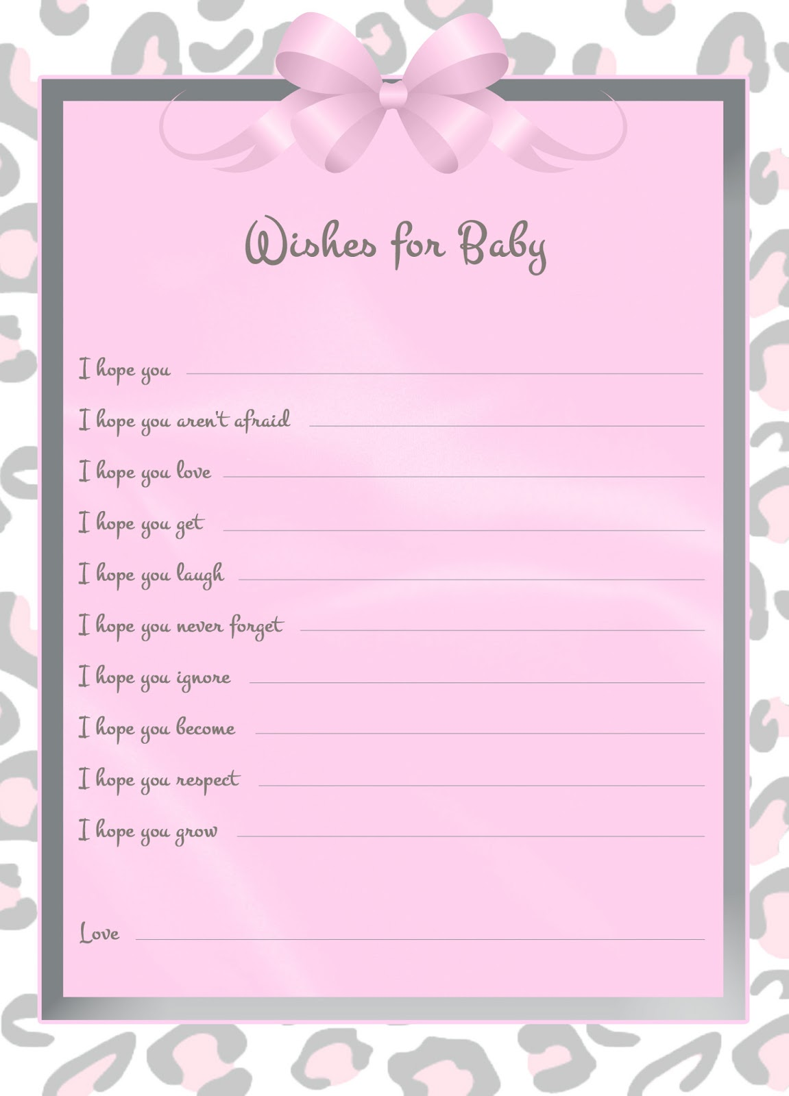 printable birthday wish list template ; wishes+for+baby