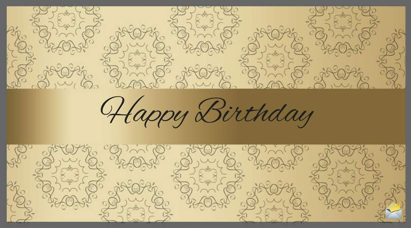 professional birthday greeting messages ; Birthday-wish-on-golden-elegant-background