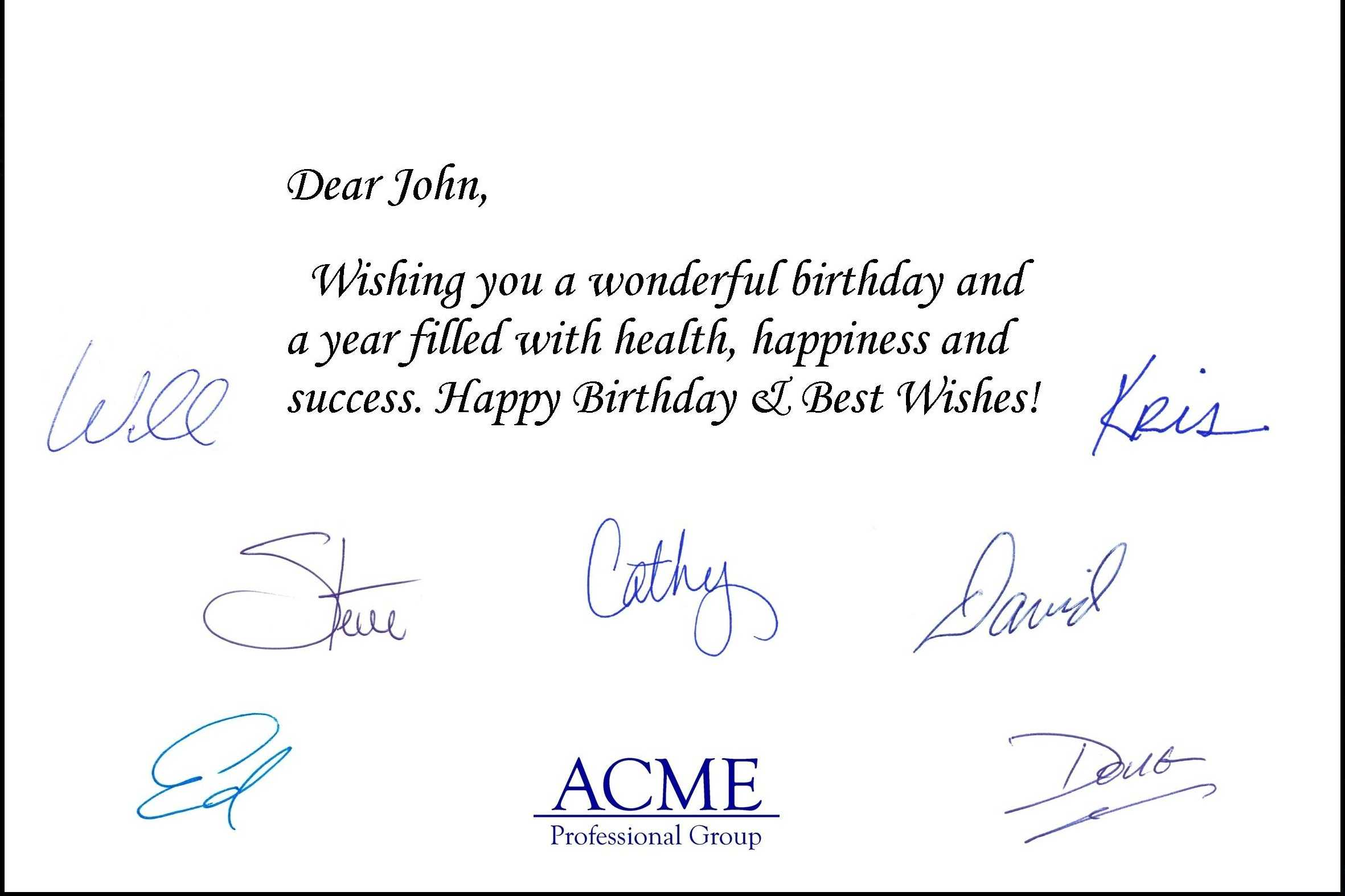 Professional Birthday Greeting Messages Corporate Cards Gangcraftnet The