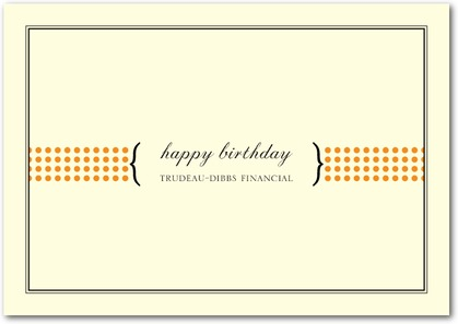 professional birthday greeting messages ; professional-birthday-cards-rectangle-landscape-cream-polka-dot-line-posh-professional-birthday-corporate-greeting-cards-fine-moments-pumpkin-orange