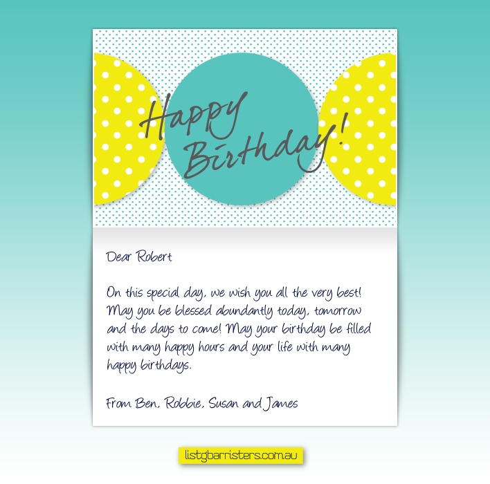professional birthday greeting messages ; sample_20131120011225