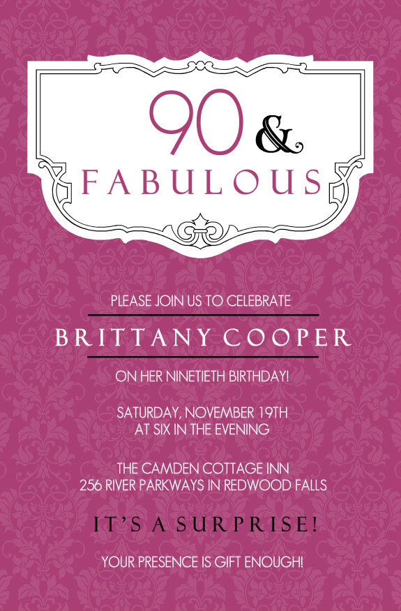 quotes for 90th birthday card ; 90th-Birthday-Invitations-wording