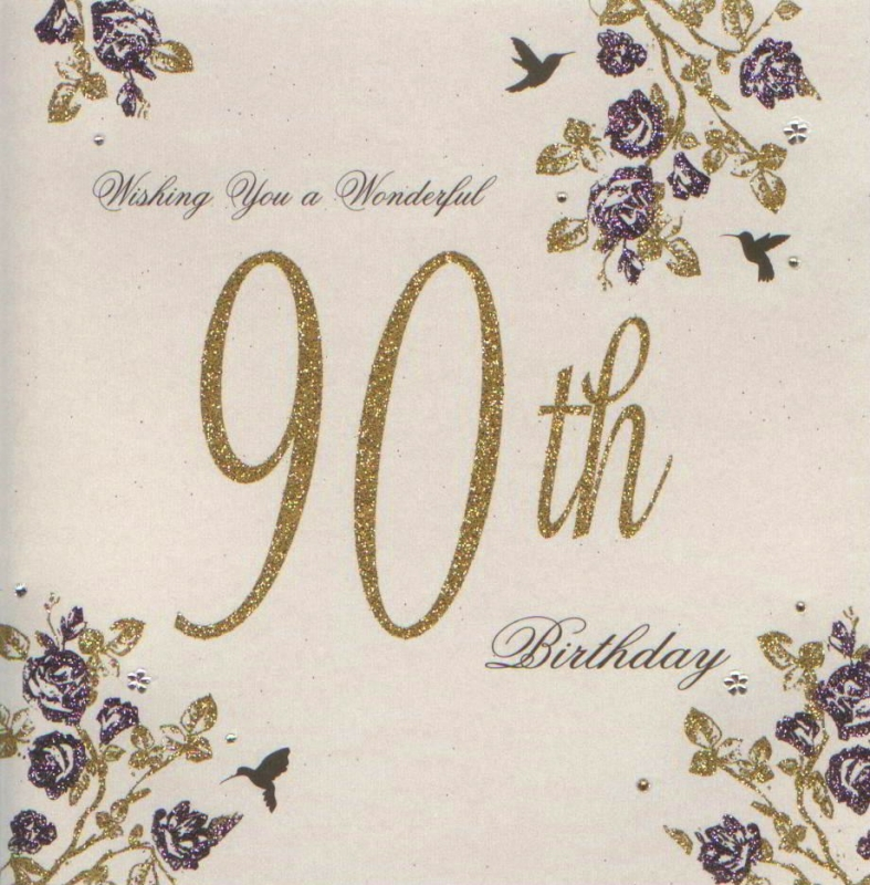 quotes for 90th birthday card ; 90th-birthday-cards-perfect-personalized-customised-cream-color-beautious-flowers-wishing-you-a-wonderful-square-golden-purple