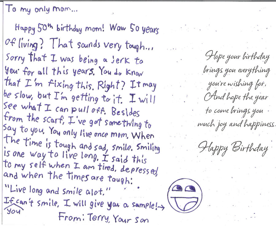 quotes to write in a birthday card ; How-To-Write-50th-Birthday-Quotes-To-Mom-Dad