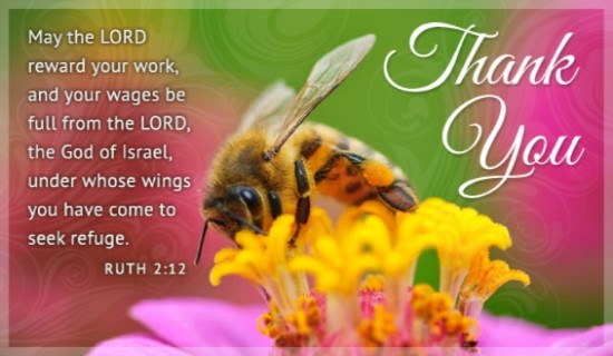 religious thank you message for birthday wishes ; 17146-thank-you-bee