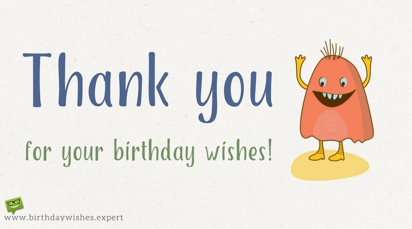 return thanks message for birthday wishes ; Thank-you-for-your-birthday-wishes-note-on-image-with-cute-monster